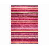 Esprit Funny Stripes Red Shag Rug - 140cm x 200cm