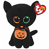 TY Beanie Boo Plush - Shadow the Halloween Kitty 15cm