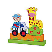 Viga Wooden Magnetic Zoo Puzzle