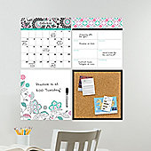 Wallpops Floral Medley Organization Wall Stickers