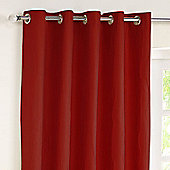 Rectella Jazz Red Lined Eyelet Curtains -229cm x137cm