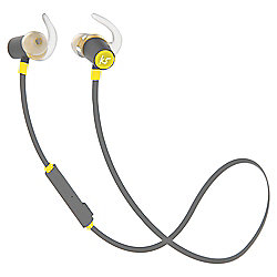 KitSound Outrun Water-Resistant Bluetooth Wireless Sports In-Ear Headphones - Yellow
