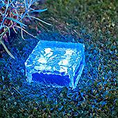 Large Blue LED Solar Garden Glass Path Light