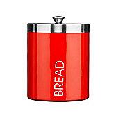 Premier Housewares 22 cm Bread Bin with Lid - Red