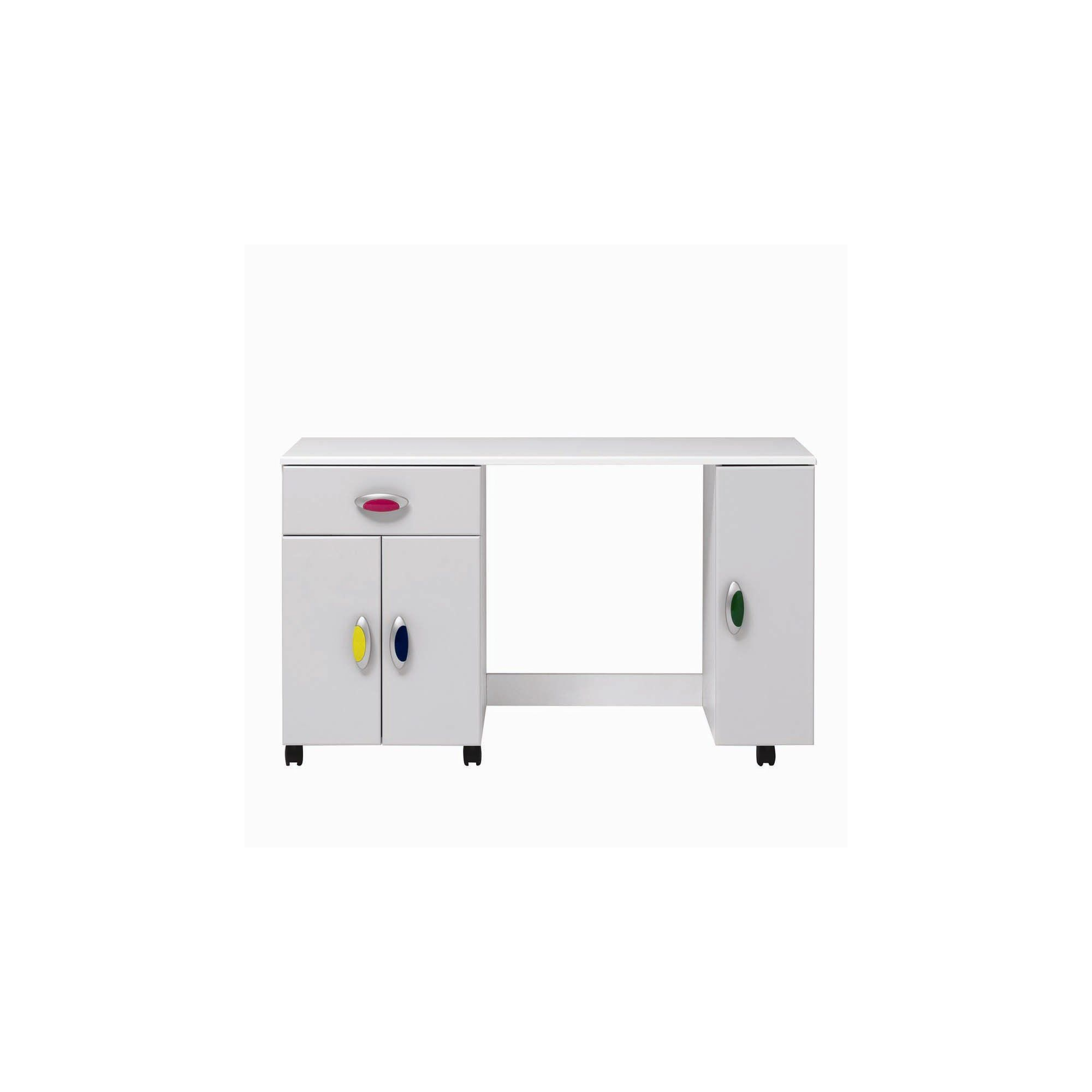 Caxton MyPod Desk in White and Grey at Tesco Direct