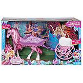 Barbie Mariposa Pegasus Horse & Chariot Playset