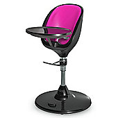 Brother Max Scoop Black Highchair + Seat Insert (Pink)
