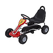HOMCOM Kids Ride on Pedal small W/ Hand Brake-Red