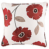 Poppy Filled Singe Cushion- Red 43X43