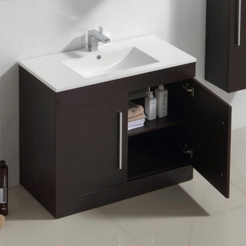 Buy prestige brussel floor mounted vanity unit built in for Bathroom cabinets 800mm high