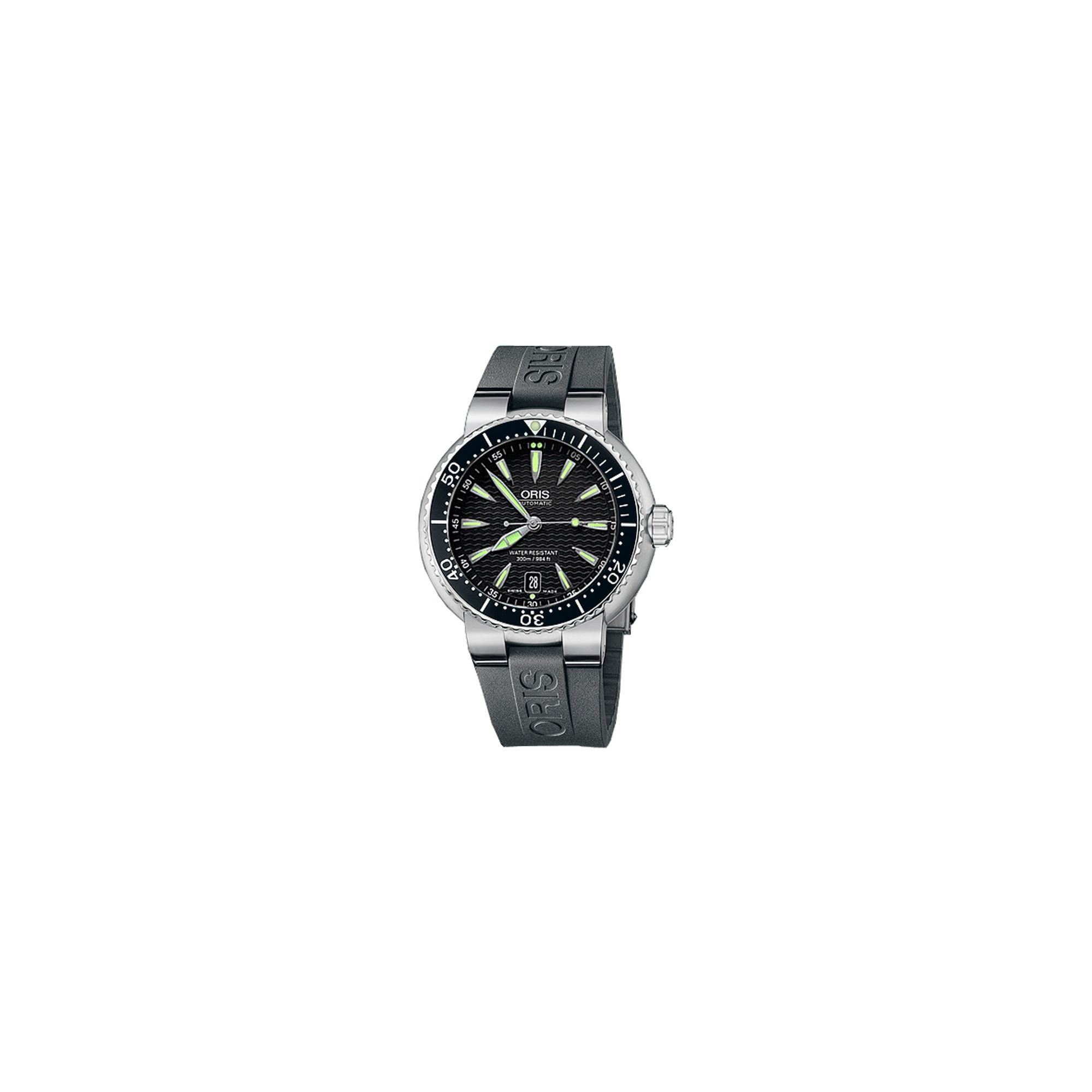 Oris Gents TT1 Black Rubber Strap Watch 73375338454RS at Tesco Direct