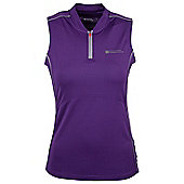 Tri Womens Vest Exercise Gym Running Walking Cycling Active Base Layer Top - Purple