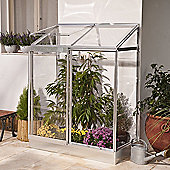 Palram polycarbonate lean-to greenhouse SILVER frame