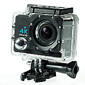 Sports Cam HD Action Camera 4K at 30fps 2.0 Screen, Wi-Fi and Waterproof Case (30m) + 10 mountings and accessories
