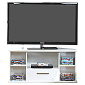 Welcome Furniture Living Room Corner TV Stand - White Gloss