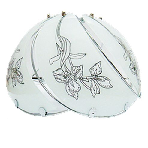 Loxton Lighting 1 Light Half Moon Lamp Shade - Silver - Gold