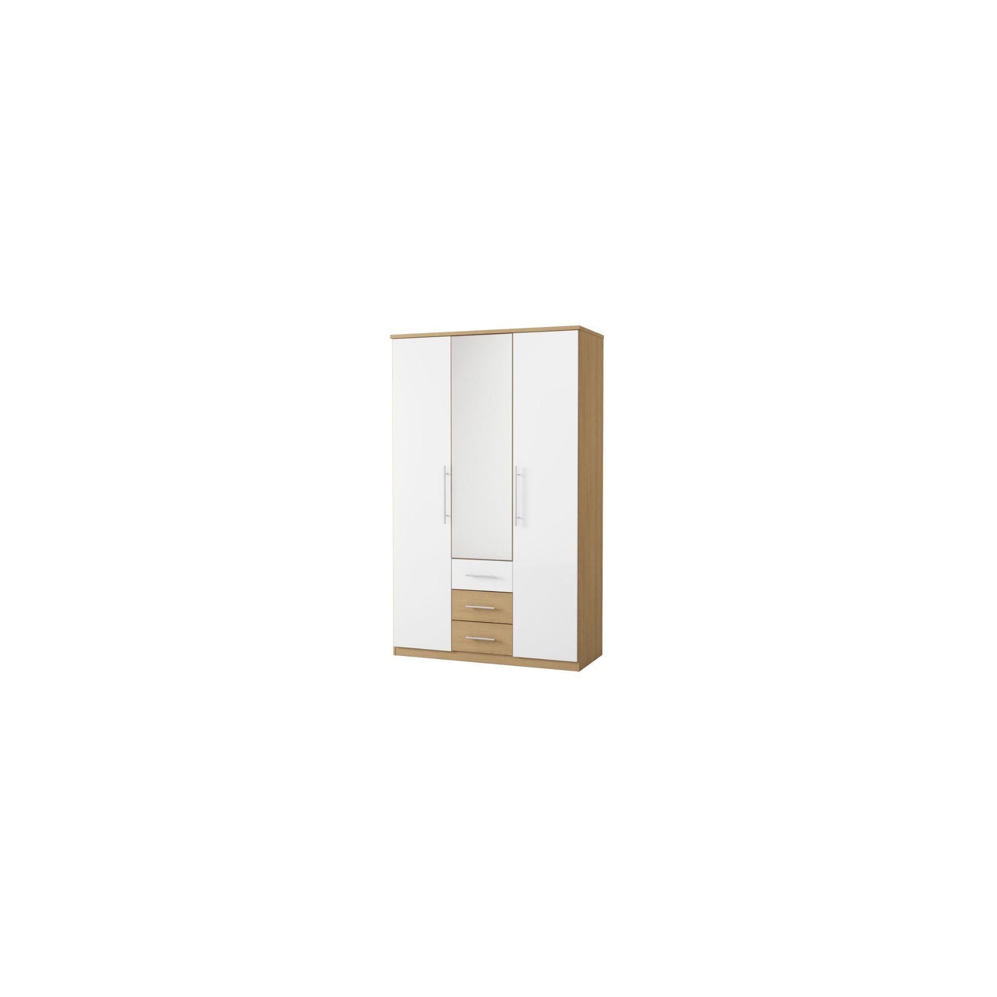 Urbane Designs Sorrento 3 Drawer CNT Mirror Wardrobe at Tescos Direct