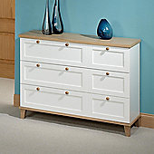 Home Zone Chicago Three Drawer Chest in White