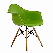 Charles Eames Inspired Eiffel DAW Green Dining Chair