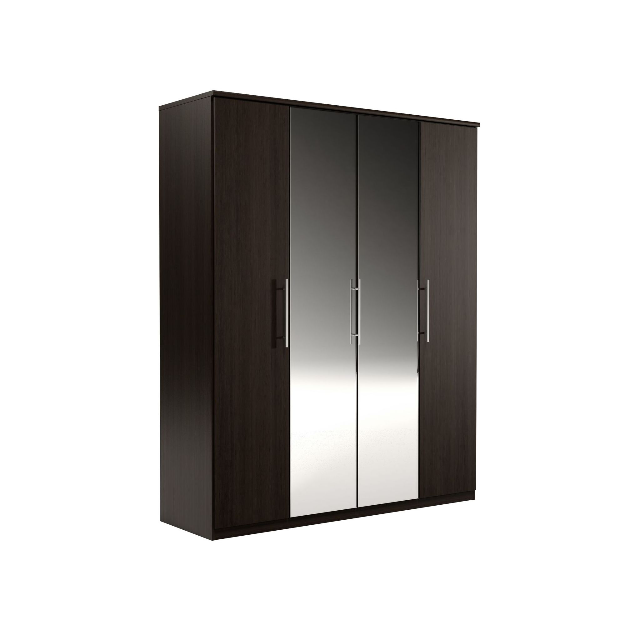 Urbane Designs Prague 4 Door Wardrobe - Espresso at Tesco Direct