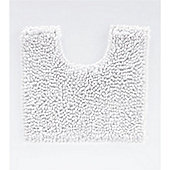 Catherine Lansfield Microfibre Chenille Pedestal Mat - White