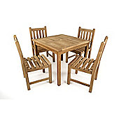Little Warwick 4 Seater Teak Set - Outdoor/Garden table and Chair set.
