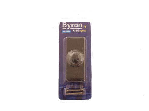 Byron 7720 Blaze Bell Push Black