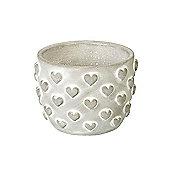 Parlane Pretty 'Hearts' Concrete Planter - 9.5 x 13.5cm