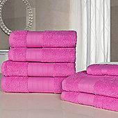 Dreamscene Luxury Egyptian Cotton 7 Piece Bathroom Towel Set - Pink