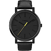 Timex Gents All Black Analogue Strap Watch T2N793D7