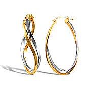 Jewelco London Sterling Silver Double Hoop Earrings