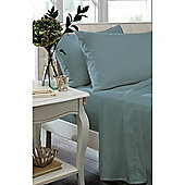 Catherine Lansfield Home Non Iron Percale Combed Polycotton Housewife Pillowcases TEAL