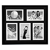 Photo Frame - with Five 6 x 4 Apertures - Black