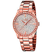 Lotus Ladies Rose Gold Ion-plated Gemstone Watch L18136/1
