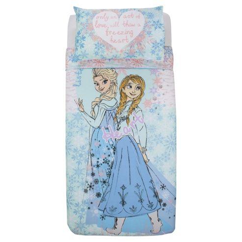 Disney Frozen Anna and Elsa, Listen To Your Heart Duvet Cover Set, Single TESCO EXCLUSIVE
