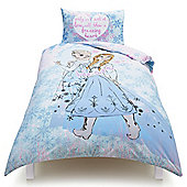 Disney Frozen Anna and Elsa, Listen To Your Heart Single Duvet Cover Set TESCO EXCLUSIVE