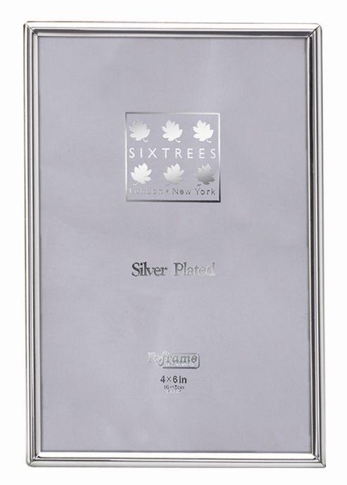 Sixtrees Cambridge Narrow Rim Plated Photo Frame - 13.5cm H x 10cm W x 2cm D