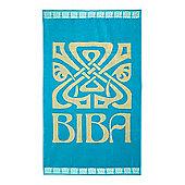 Biba Big Logo Turquoise Beach Towel