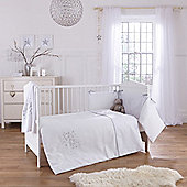 Clair De Lune Stardust 3 Piece Bedding Set - White - White