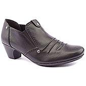 Rieker Ladies Chrissy Black Low Heeled Shoes - Black