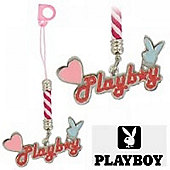 Playboy Heart anh Head Mobile Phone Dangly