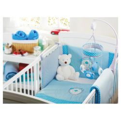Red Kite Cosi Cot Bedding Set  Blue Bear