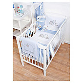 Hello Ernest Blue Cosi Cot Bedding