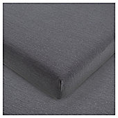 Tesco Jersey Fitted Sheet Kingsize Shadow