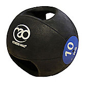 Fitness-MAD 10 Kg Double Grip Medicine Ball