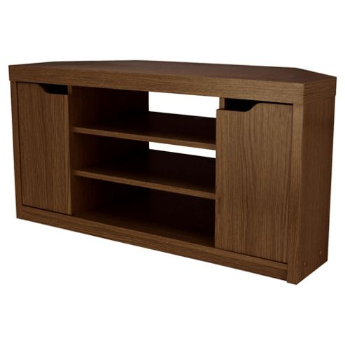 Seattle Corner TV Unit, Walnut Effect