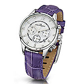 Kennett Savro Ladies Leather 24 hour Chronograph Watch LWSAVWHSILPU