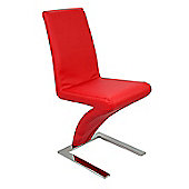 Zee Red Faux Leather Dining Chair