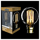 60w - Crystalite - Antique - ST64 Pear - BC - Clear - Squirrel Cage Filament - 1 pk Acetate Box