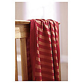 Clair De Lune Knitted Striped Blanket, Orange & Red